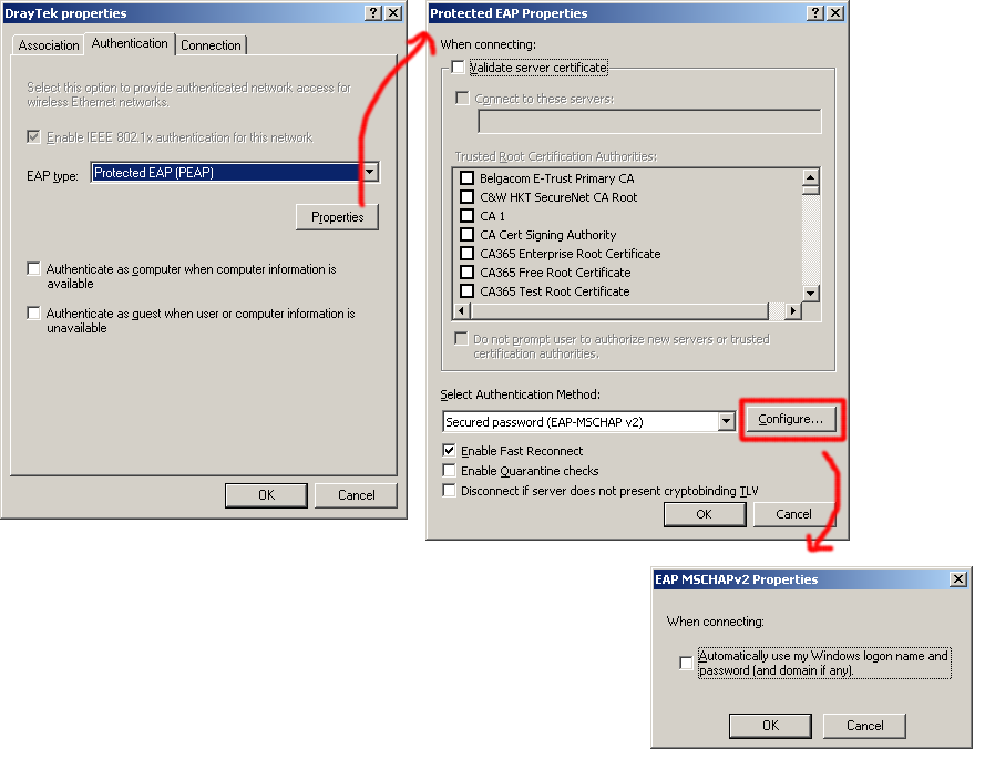 From there select the wireless network that you are setting up radius
