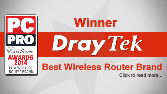 PC PRO Excellence Awards 2014  - Best Wireless Router Brand