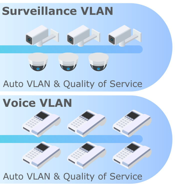 Auto Voice and Surveillance VLAN
