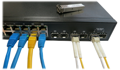SFP Ports on DrayTek vigorSwitch P2261
